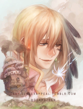 Howl's moving castle - El castillo ambulante by DeerAzeen