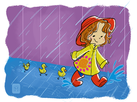 Rain in my Wellies by Dakotaa