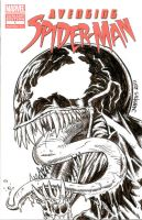 Avenging Spider-man ish 1 Sketch Cover - Venom by ElfSong-Mat