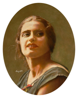 Portrait of Ayn Rand by hank1