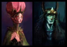 Epic: The Movie (Mandrake and OC Flower Courtier) by ZuuKo26