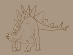 30 Day Dinosaur Drawing Challenge - Day 4 by Sketchy-raptor