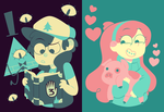 Dipper and Mabel palettes by Copiani
