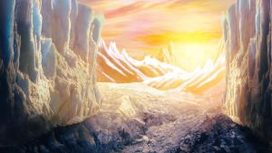 Ice Passage Matte Painting by BenHinman