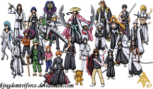Bleach Sprite Group by KingdomTriforce