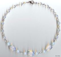 Opalite Necklace by LWaite
