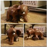 Wooly Mammoth WIP by GoldenDaffadowndilly