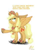 Annoyed Princess Applejack by teammagix