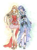 CE : H.O.W. characters: Mariciel and Sanya by The-Angel-Of-Light