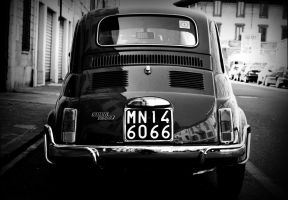 Fiat 500 Black and White Italy by EuroFlash