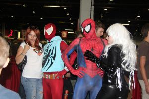 Spider-Man,Mary Jane, and Black Cat by VoiceofSupergirl