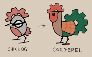 Chikkog and Coggerel by Pseudolonewolf