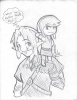 Link and Toon Link by Leapoffaith4