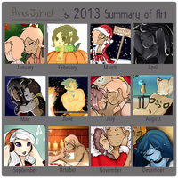 Art Summary of 2013 by GingerQuin