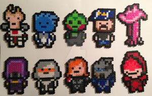 Mass Effect Perler Bead Sprites by Viverra1
