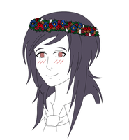 Ayame Flower Crown Blushing by Mandabexy