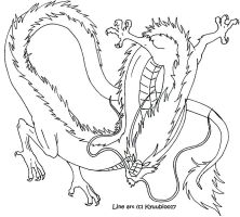 Eastern Dragon LineArt by Kyuubi0017