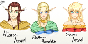 DnD: Aranel Family - Colored by Ainwen27