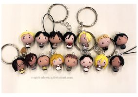 Shingeki no Kyojin charms by Spirit-Phoenix