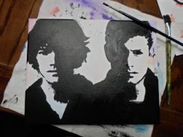 Sam and Dean Silhouettes. (WIP) by Redder-Than-You