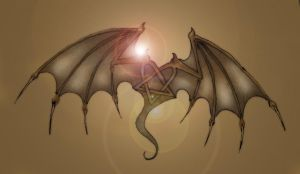 Heartagram with wings by ihni