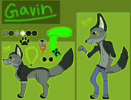 Gavin Reference sheet by Jolts-of-Blue