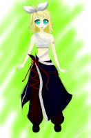 Kagamine Rin (coloured) by jocey-c