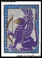 Heraldic Gryphon Sejant Addorsed Elevated ATC by halfbreed