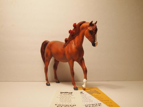 Custom Breyer Classic Arabian Mare (SOLD) by theblackarabianlover