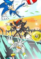 Sonic, Shadow and Silver XD by missyuna