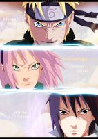 Naruto 632 - Team 7 by i-azu
