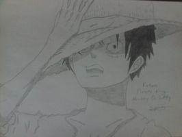 Monkey D Luffy's Drawing by StefanosDTsougranis