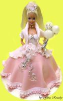 Barbie 3 Cake by ginas-cakes