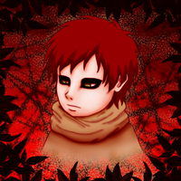 Gaara - The Child of Sand by IveWasHere
