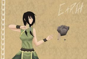 Earth Bender - Rhue by TheBlackKunoichi