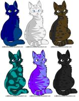 Kitty adoptables 2 by FireFly1800
