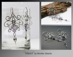 Isleen- wire wrapped earrings by mea00