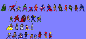 Various Jump Ultimate Stars style sprites by totalgymvssonic