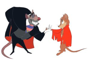 Ratigan meets Mrs. Brisby by FlamiatheDemon