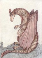 Sea Rock Dragon by EvilScarrlett