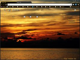 OpticAmber CSunset Theme by raljanalli