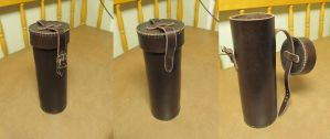 Leather cylinder case by Durnstaros
