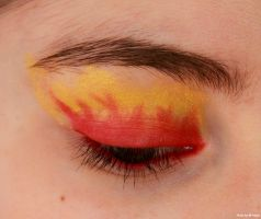 Gryffindor fire make-up. by EamyCross