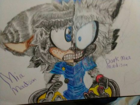 Old drawing of Mia And Dark Mia by sammy2002baby