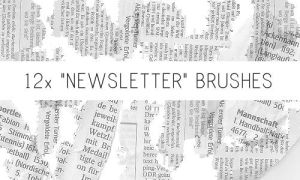 Newsletter Brushes by PinkMai