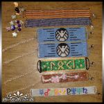 Peyote Stitched Beaded Bracelets Sept 2014 by kuroitenshi13