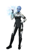 Commission - Asari by Llythium-art