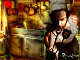 wolverine as cook by superalysson