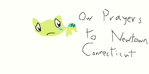 Our Prayers To Newtown,Connecticut by TheGreenSeaTurtle