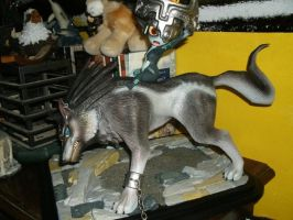 Midna and Link statue Twilight Princess by TheWolfInMe